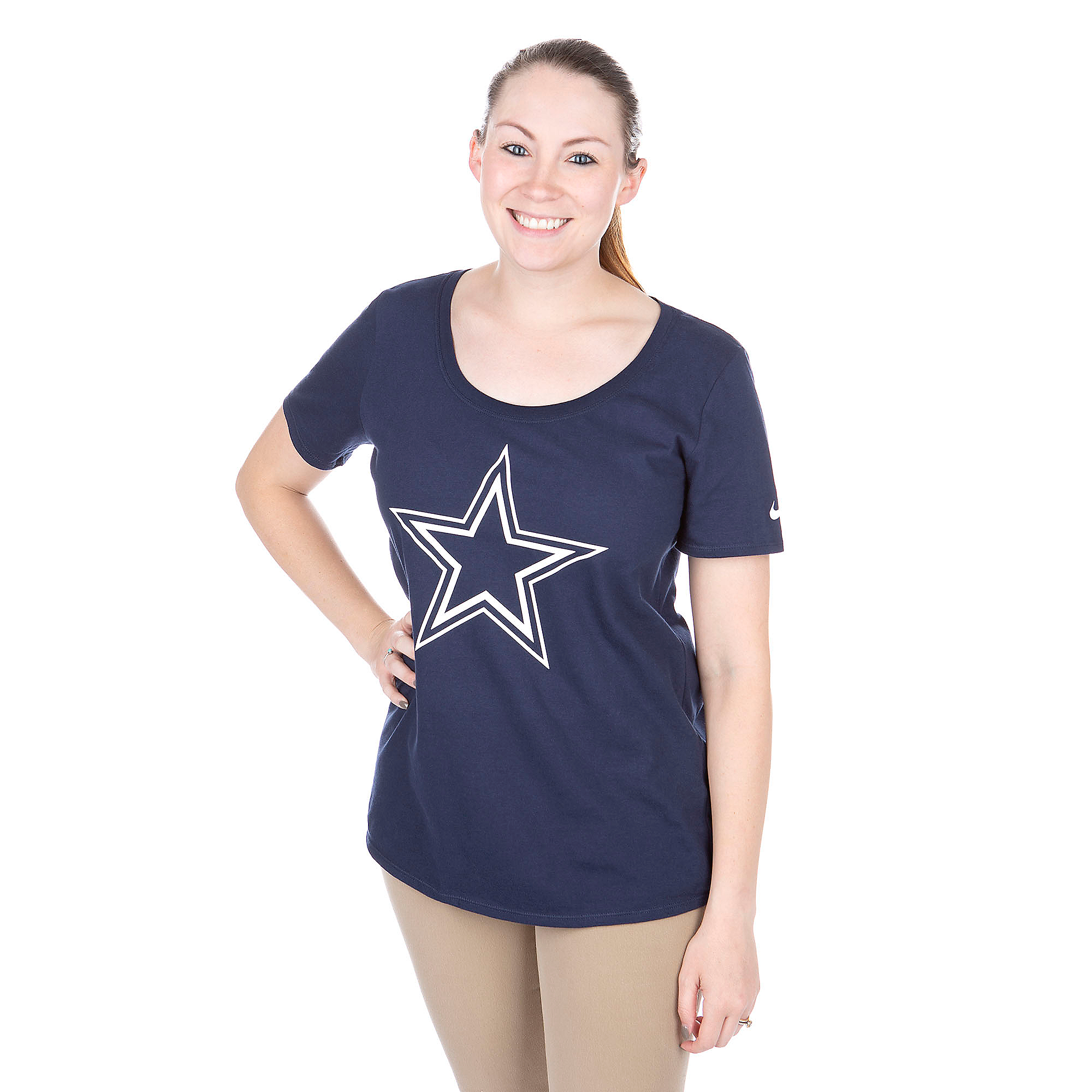 Dallas Cowboys Nike Cotton Scoop Logo Tee