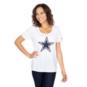 Dallas Cowboys Nike Cotton Scoop Logo Tee