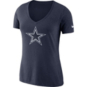 Dallas Cowboys Nike Womens Tri Vault Logo Tee