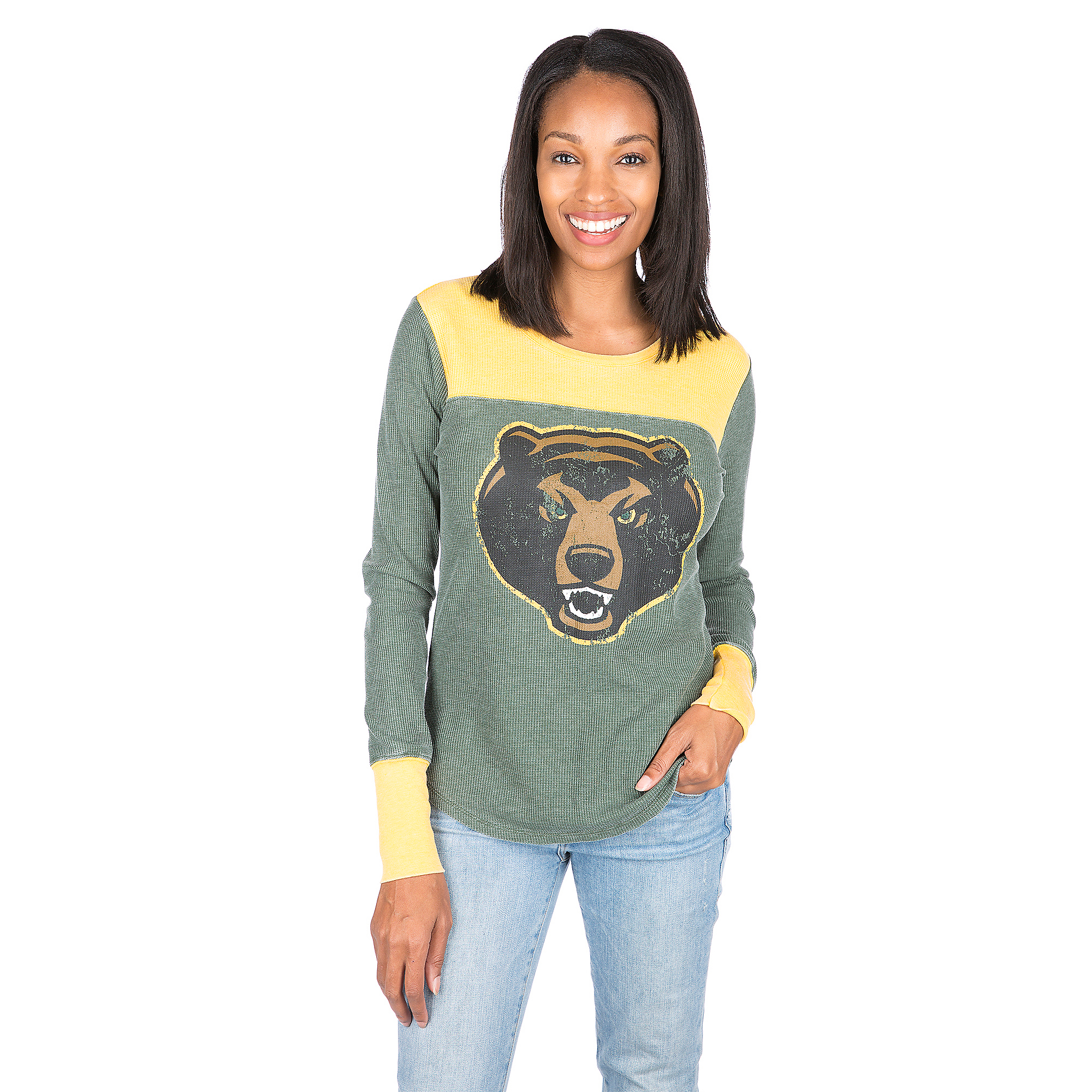 Baylor Bears Womens Blind Side Thermal Long Sleeve Tee
