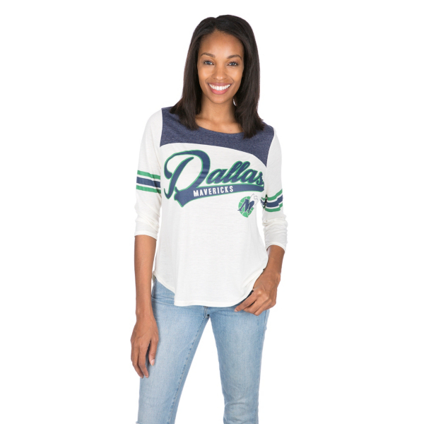 Dallas Mavericks Womens 3/4 Sleeve Endzone Tee