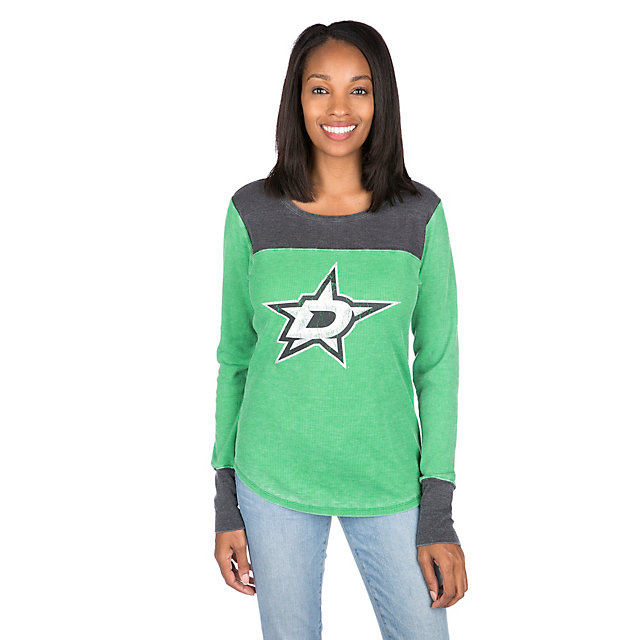 Dallas Stars Womens Blind Side Thermal Long Sleeve Tee