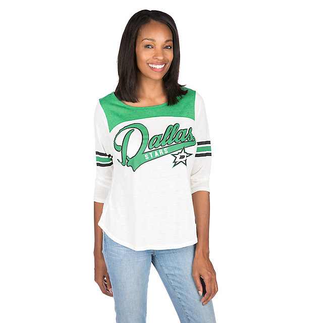 Dallas Stars Womens 3/4 Sleeve Endzone Tee