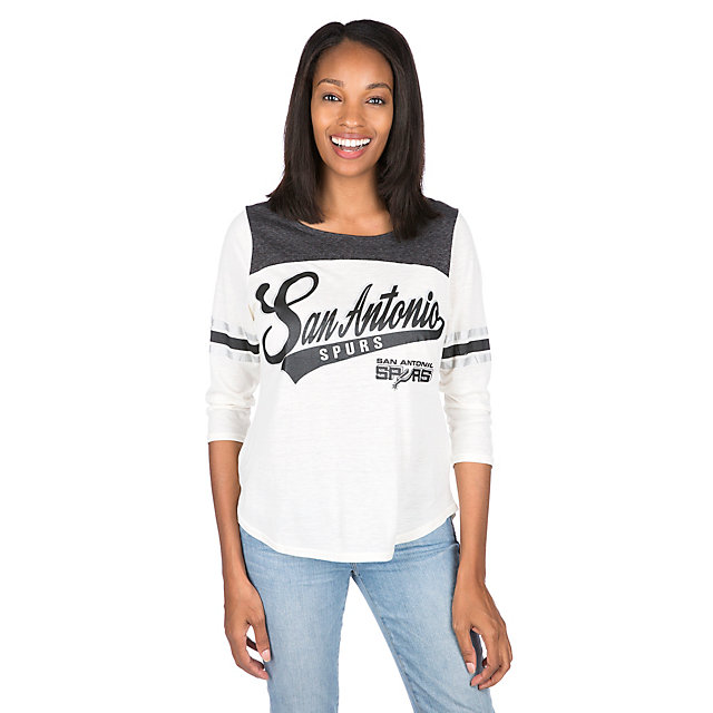 San Antonio Spurs Womens 3/4 Sleeve Endzone Tee