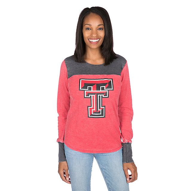 Texas Tech Red Raiders Womens Blind Side Thermal Long Sleeve Tee