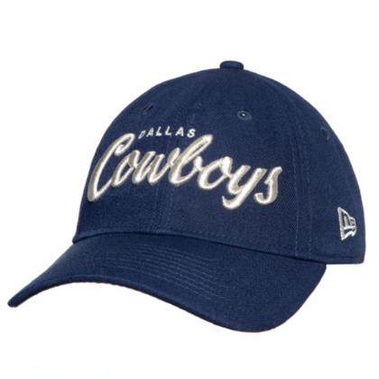 Dallas Cowboys New Era Womens Metallic Script 9Twenty Cap