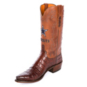 Dallas Cowboys Lucchese Mens Arlington Brown Caiman Boot