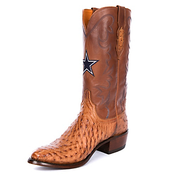 Dallas Cowboys Lucchese Mens General Full Quill Ostrich Boot