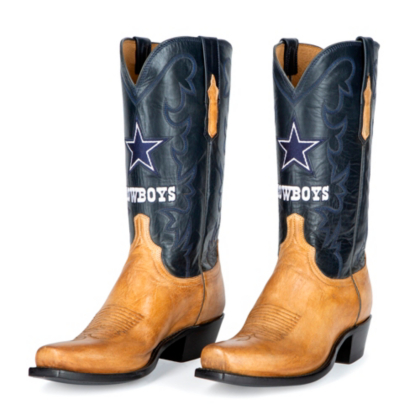 Dallas Cowboys Lucchese Mens Blitz Pearl Bone Goat Boot