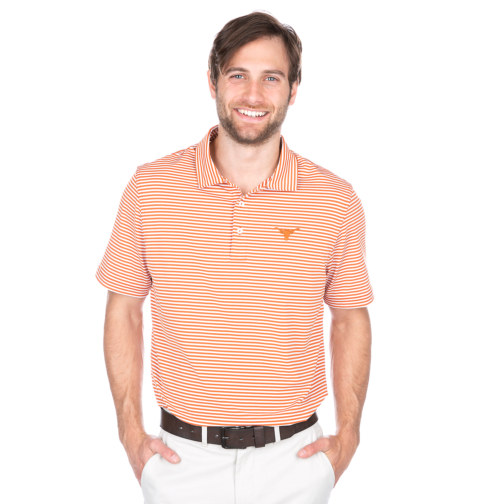 Texas Longhorns Vineyard Vines Winstead Stripe Polo