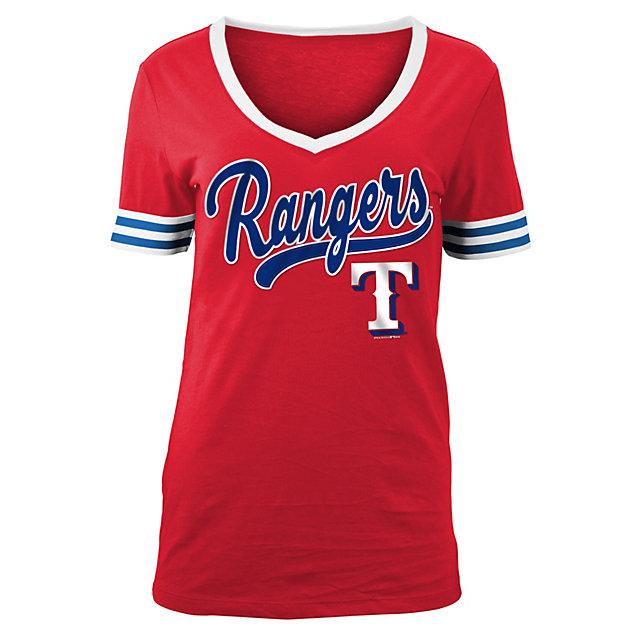 Texas Rangers Womens Baby Jersey Short Sleeve Tee