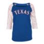 Texas Rangers Womens 3/4 Sleeve Raglan Tee