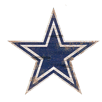 Dallas Cowboys Distressed Logo Cutout Sign