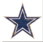 Dallas Cowboys Distressed Logo Cutout Sign