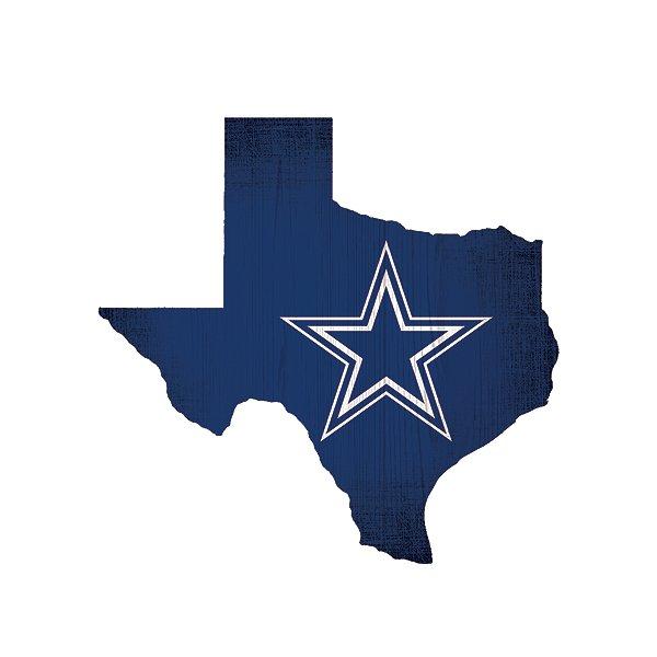 "Dallas Cowboys 12"" State Sign"