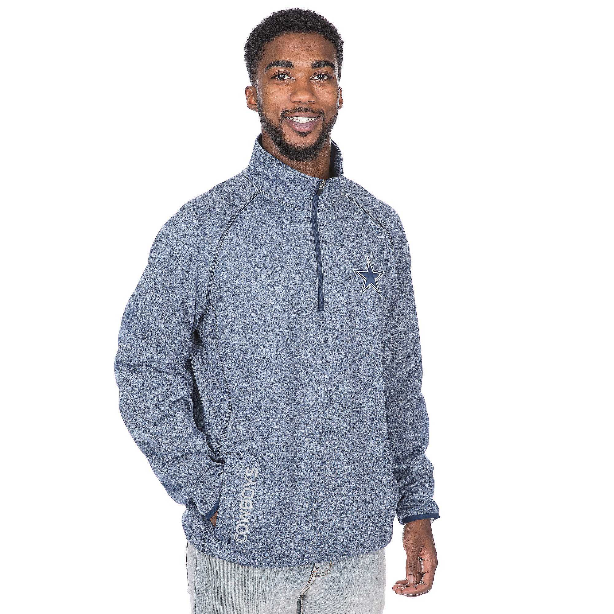 Dallas Cowboys Heathered Half-Zip Pullover