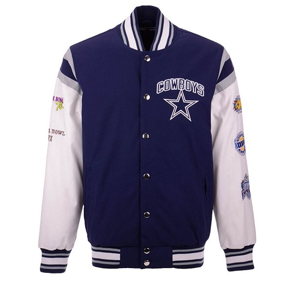 Dallas Cowboys Mens Commemorative Varsity Jacket