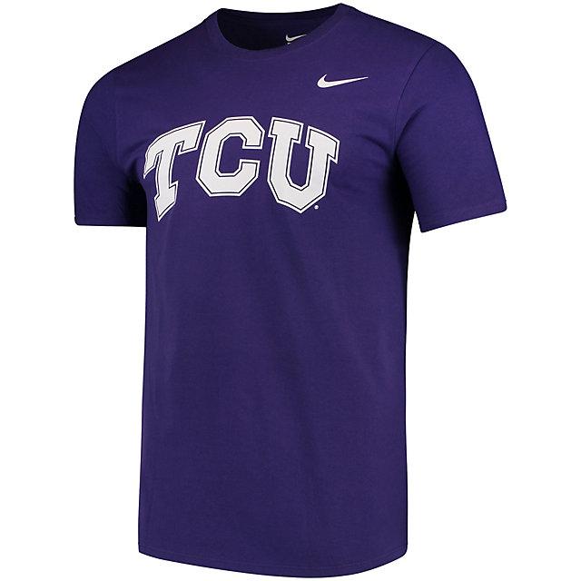 TCU Horned Frogs Nike Cotton Short Sleeve Wordmark Tee