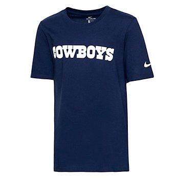 Dallas Cowboys Nike Youth Essential Wordmark T-Shirt