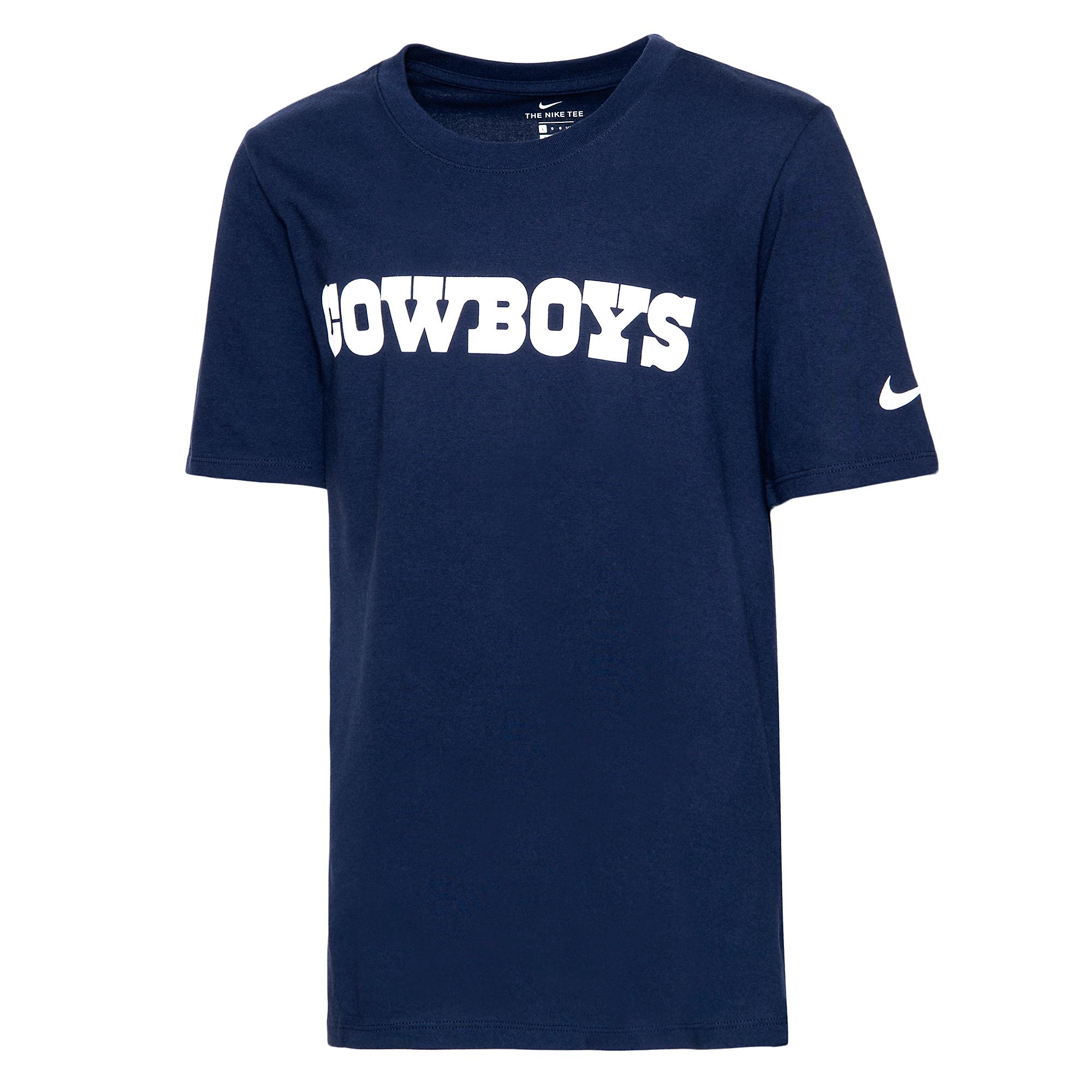 Dallas Cowboys Nike Youth Essential Wordmark Tee