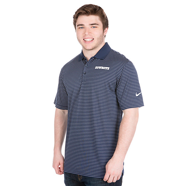 Dallas Cowboys Nike Striped Dri-FIT Polo