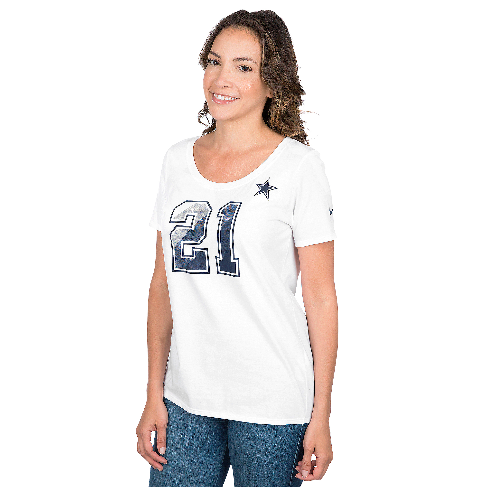 Dallas Cowboys Womens Ezekiel Elliott #21 Nike Prism Tee