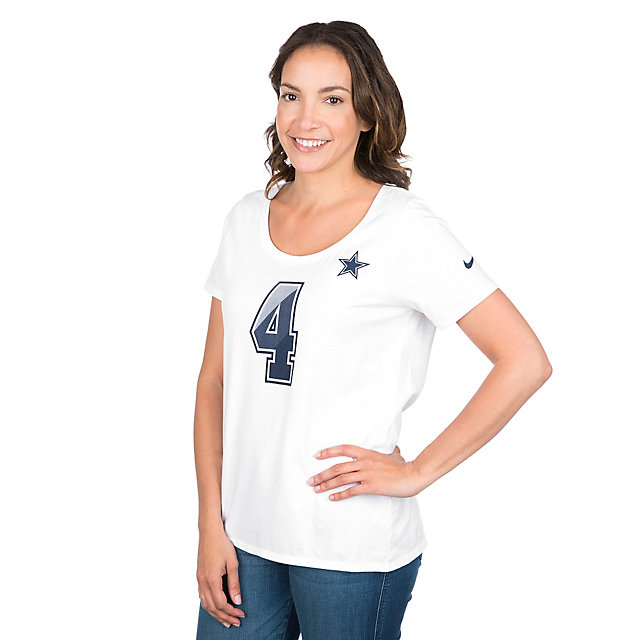 Dallas Cowboys Womens Dak Prescott #4 Nike Prism Tee