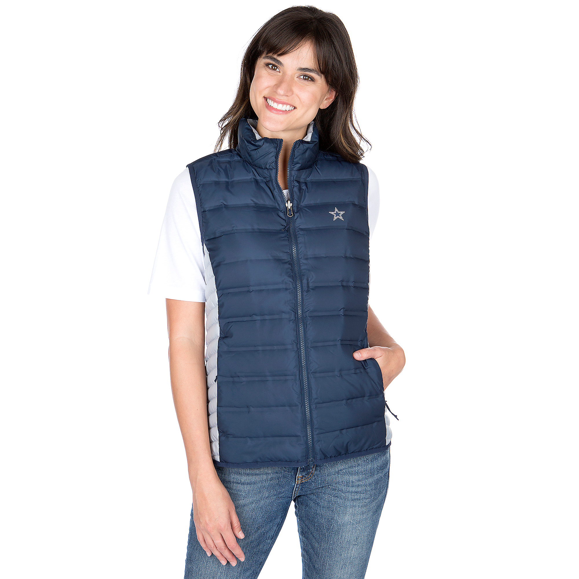 Dallas Cowboys Columbia Womens Lake 22 Down Vest