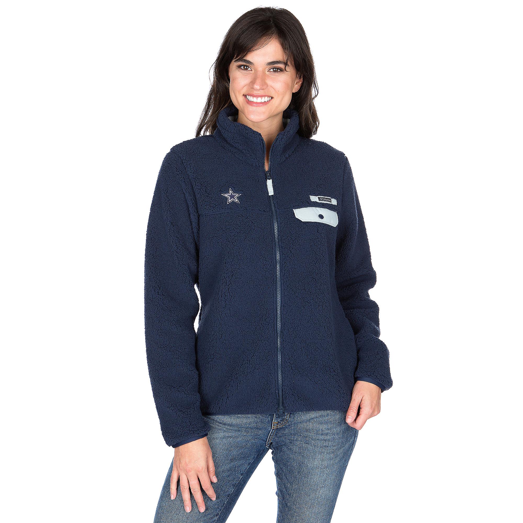 Dallas Cowboys Columbia Womens Mountain Side Heavyweight Fleece Jacket ea86ff92f2