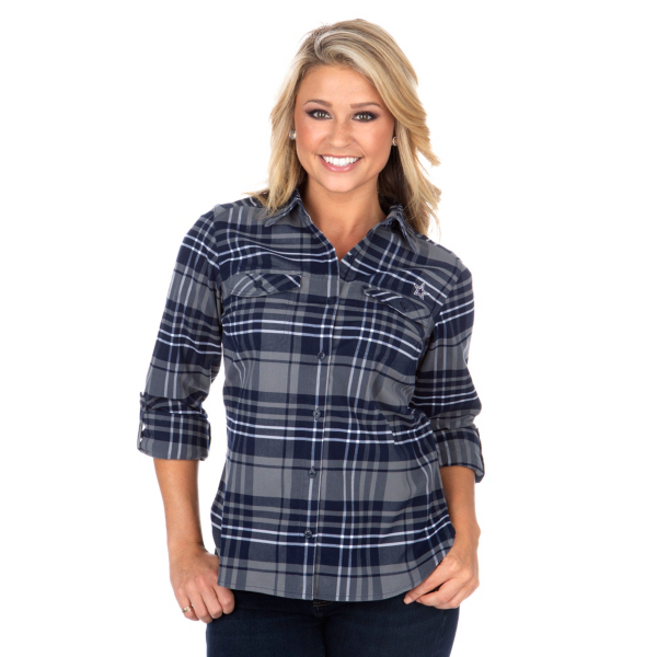 Dallas Cowboys Columbia Womens Silver Ridge Flannel Shirt