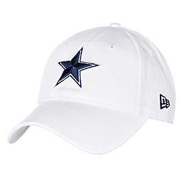 Dallas Cowboys New Era White Dak Prescott Leather 9Twenty Cap
