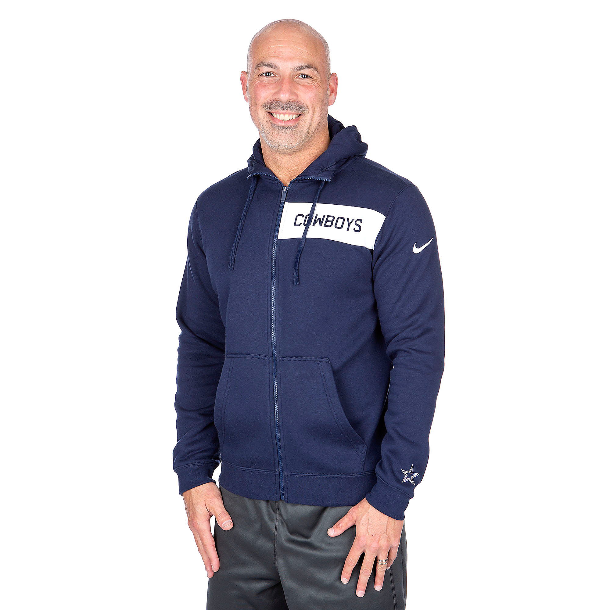 Dallas Cowboys Nike Club Fleece Full-Zip Hoody