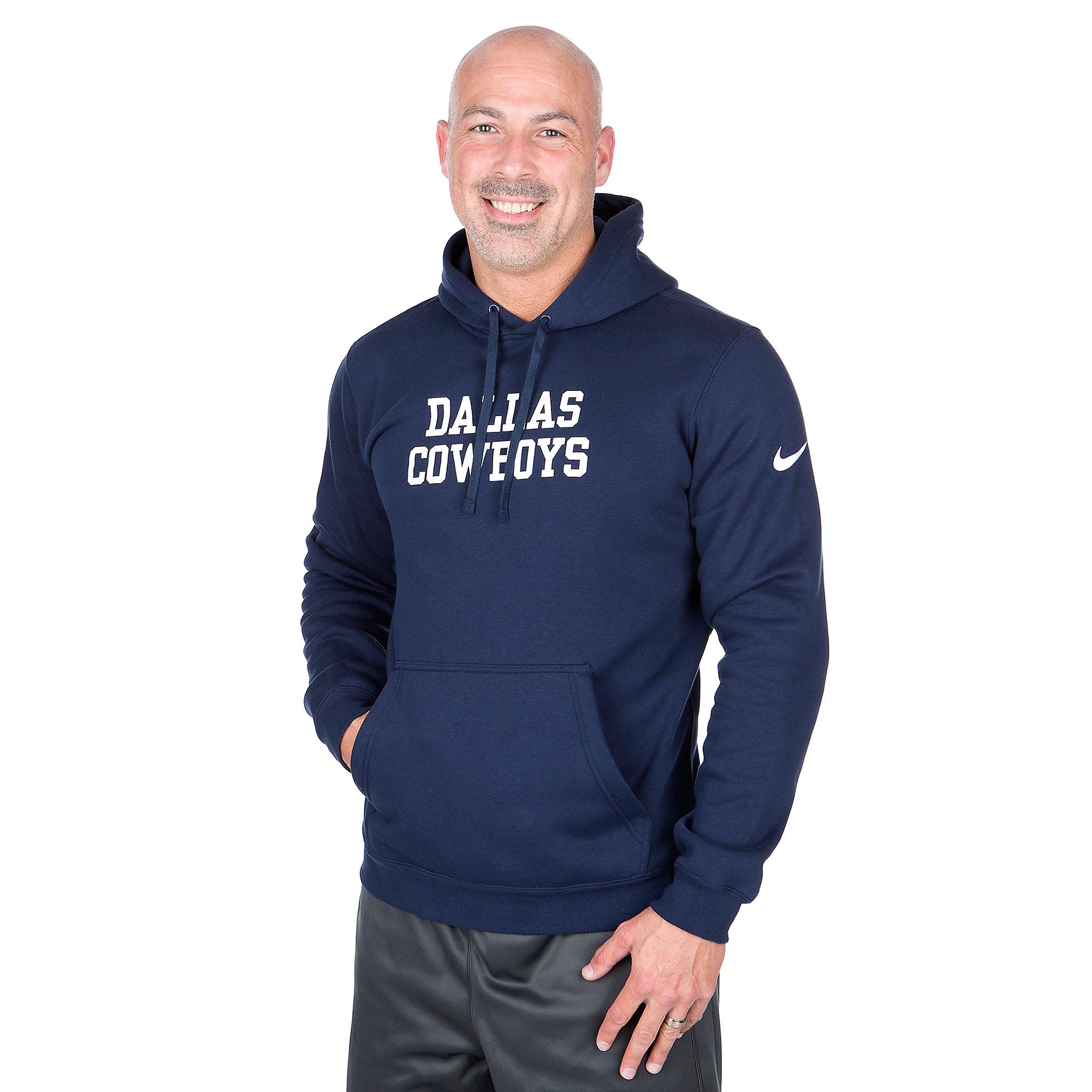 Dallas Cowboys Nike Historic Club Fleece Pullover Hoody