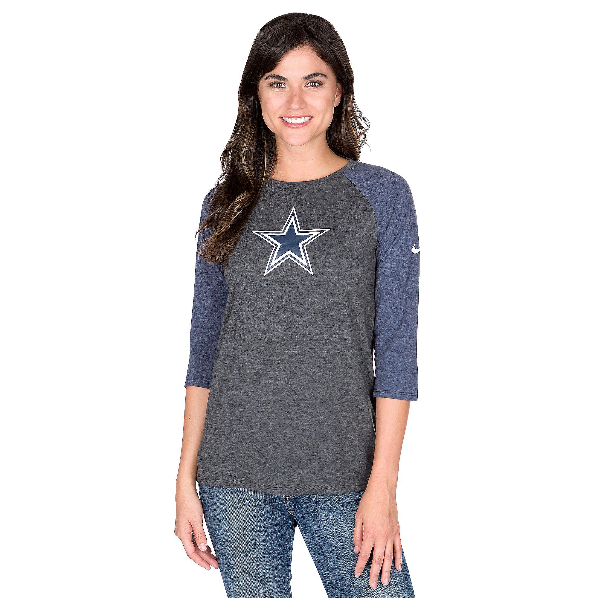 Dallas Cowboys Nike Tri Logo Raglan Tee
