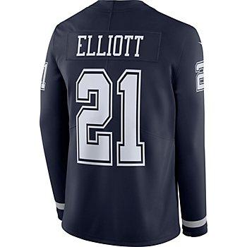 Dallas Cowboys Ezekiel Elliott #21 Nike Therma Jersey