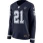 Dallas Cowboys Womens Ezekiel Elliott #21 Nike Therma Jersey