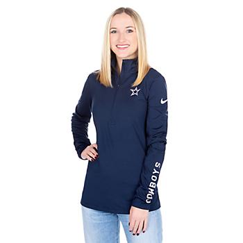 Dallas Cowboys Nike Womens Pro Half Zip Pullover