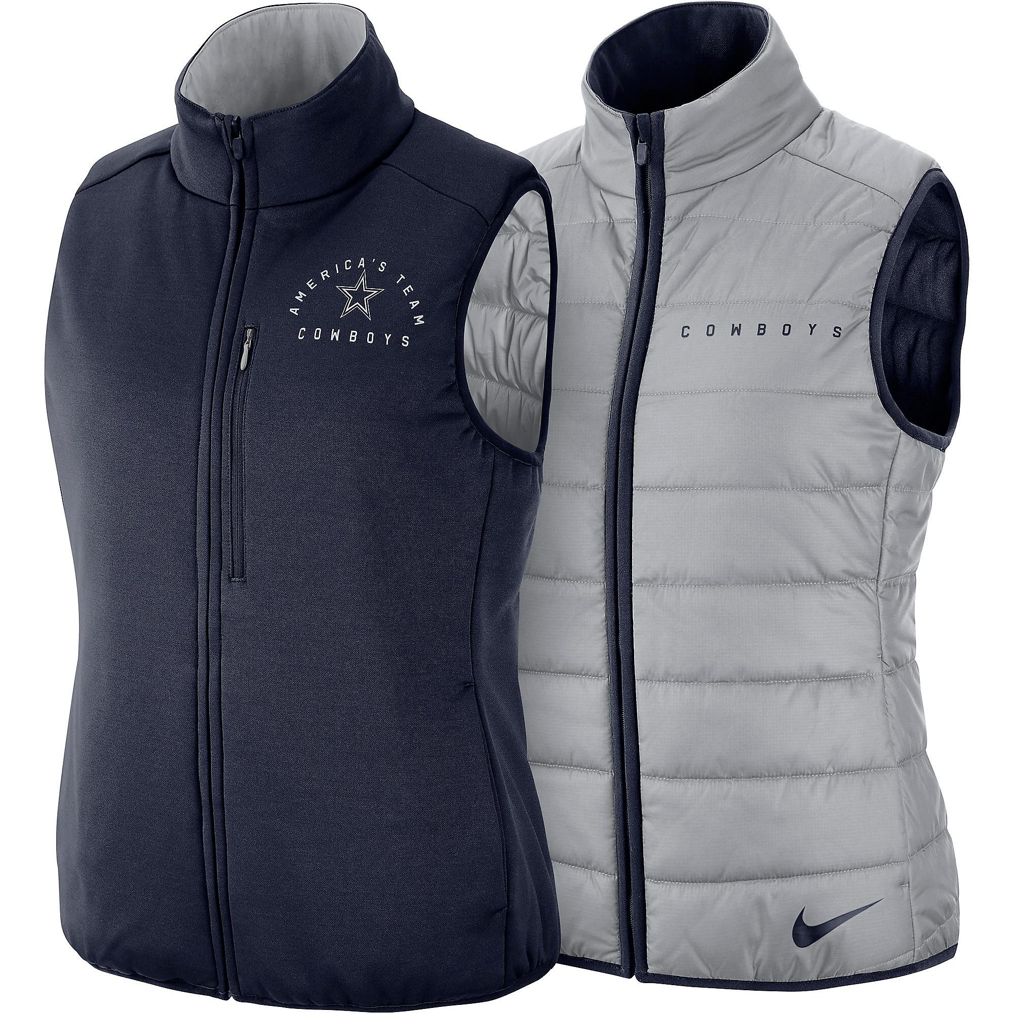 designer fashion f9c44 49259 Dallas Cowboys Nike Womens Reversible Vest | Dallas Cowboys Pro Shop