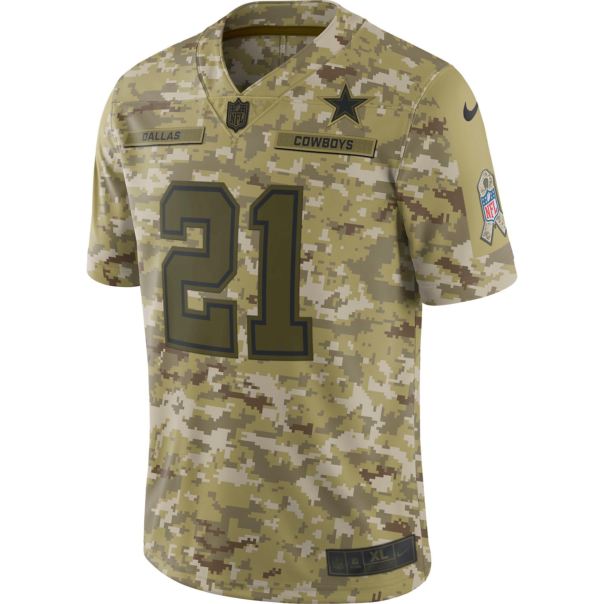 7f8634901ec Dallas Cowboys Ezekiel Elliott #21 Nike Limited Salute To Service Jersey ...