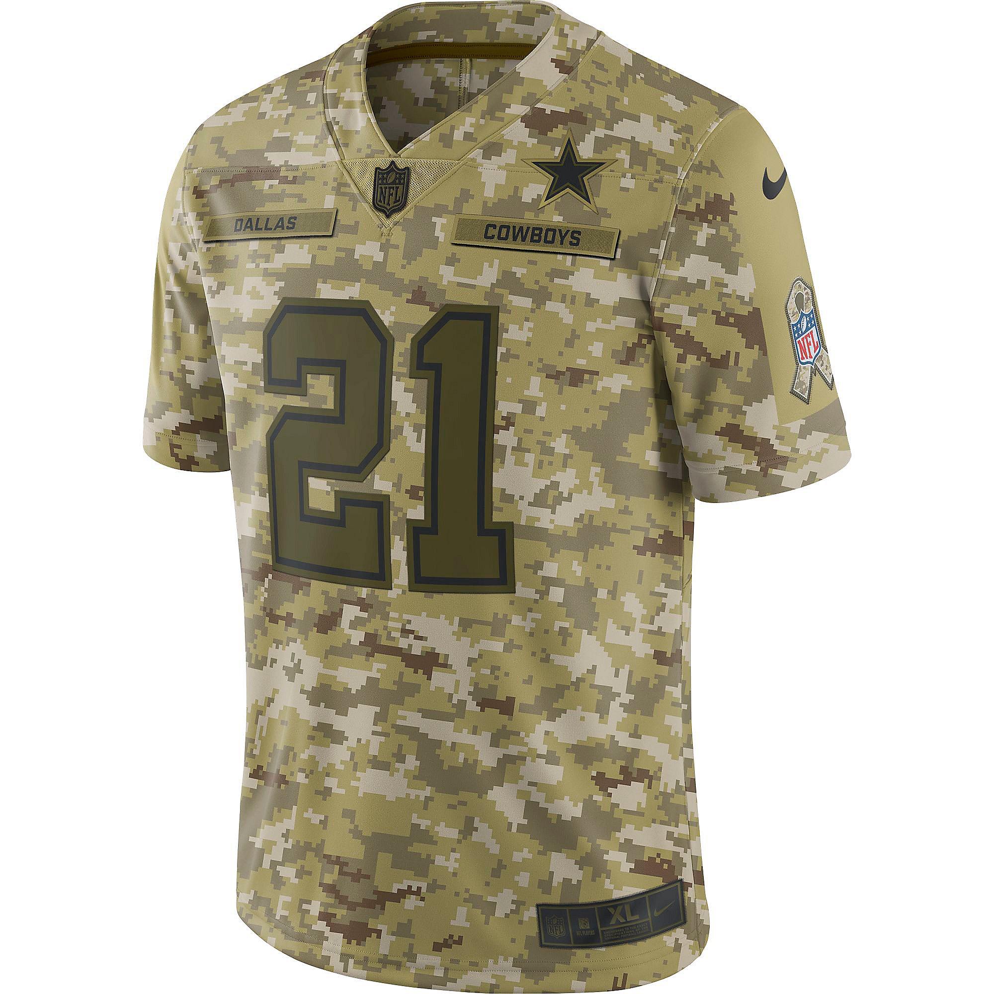 Dallas Cowboys Ezekiel Elliott #21 Nike Limited Salute To Service ...