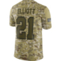 Dallas Cowboys Ezekiel Elliott #21 Nike Limited Salute To Service Jersey
