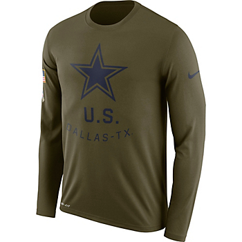 Dallas Cowboys Nike Salute to Service Legend Long Sleeve Tee 0a833e341