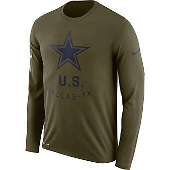 Dallas Cowboys Nike Salute to Service Legend Long Sleeve Tee