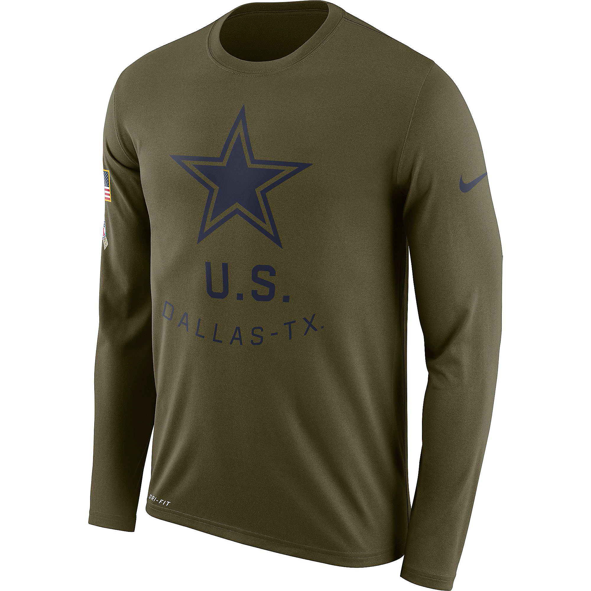 brand new 9d795 cd231 Dallas Cowboys Nike Salute to Service Legend Long Sleeve Tee
