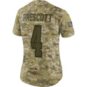 Dallas Cowboys Womens Dak Prescott #4 Nike Limited Salute To Service Jersey