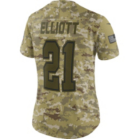 Dallas Cowboys Womens Ezekiel Elliott #21 Nike Limited Salute To Service Jersey