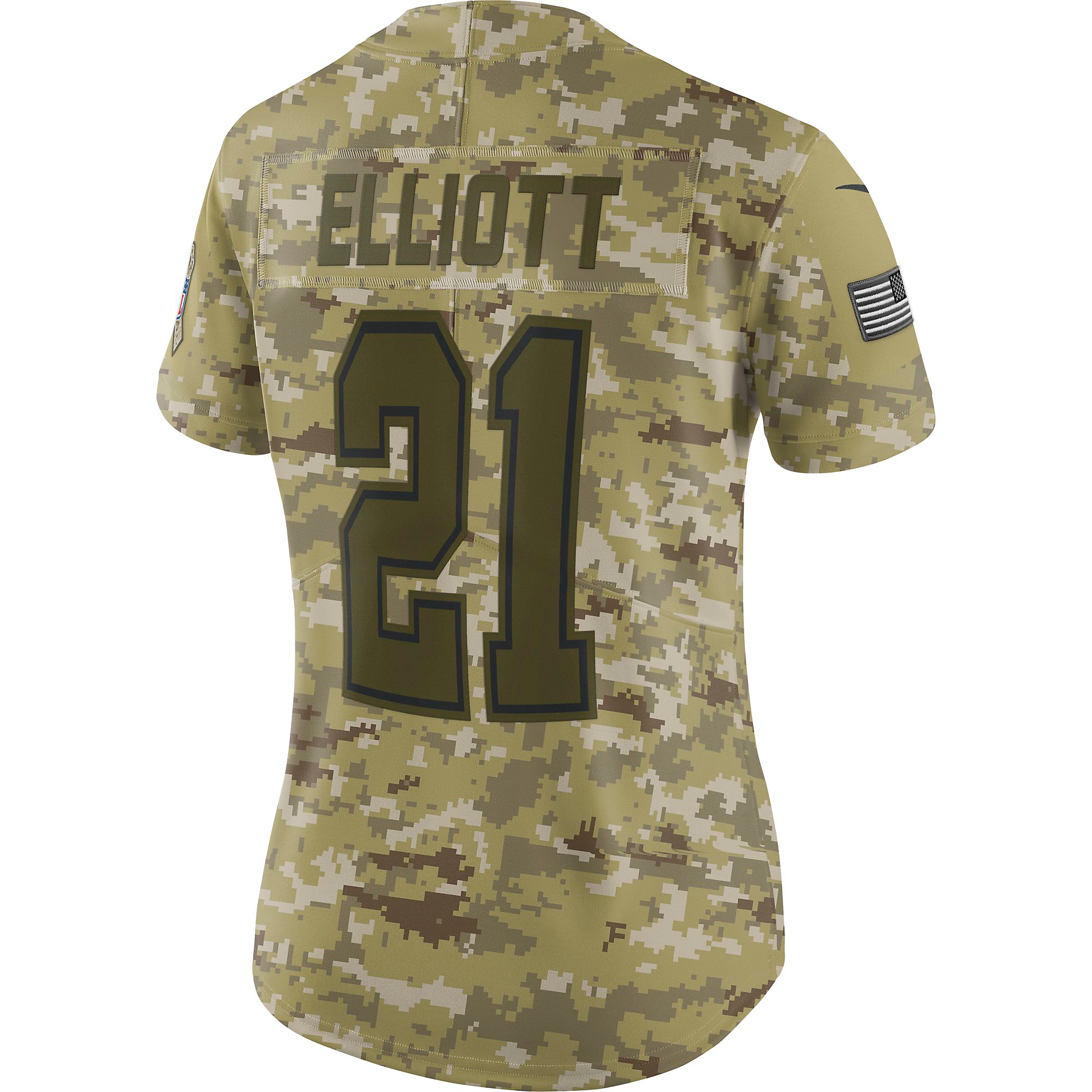 first rate 69176 92b9e Dallas Cowboys Womens Ezekiel Elliott #21 Nike Limited Salute To Service  Jersey