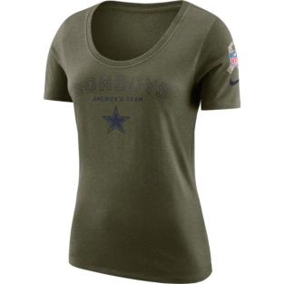 Dallas Cowboys Nike Salute to Service Womens Legend Short Sleeve Tee