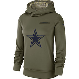 Dallas Cowboys Nike Salute to Service Womens Therma Hoody