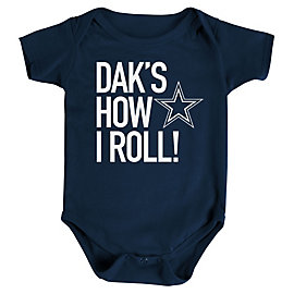 Dallas Cowboys Infant Dak's How I Roll Bodysuit